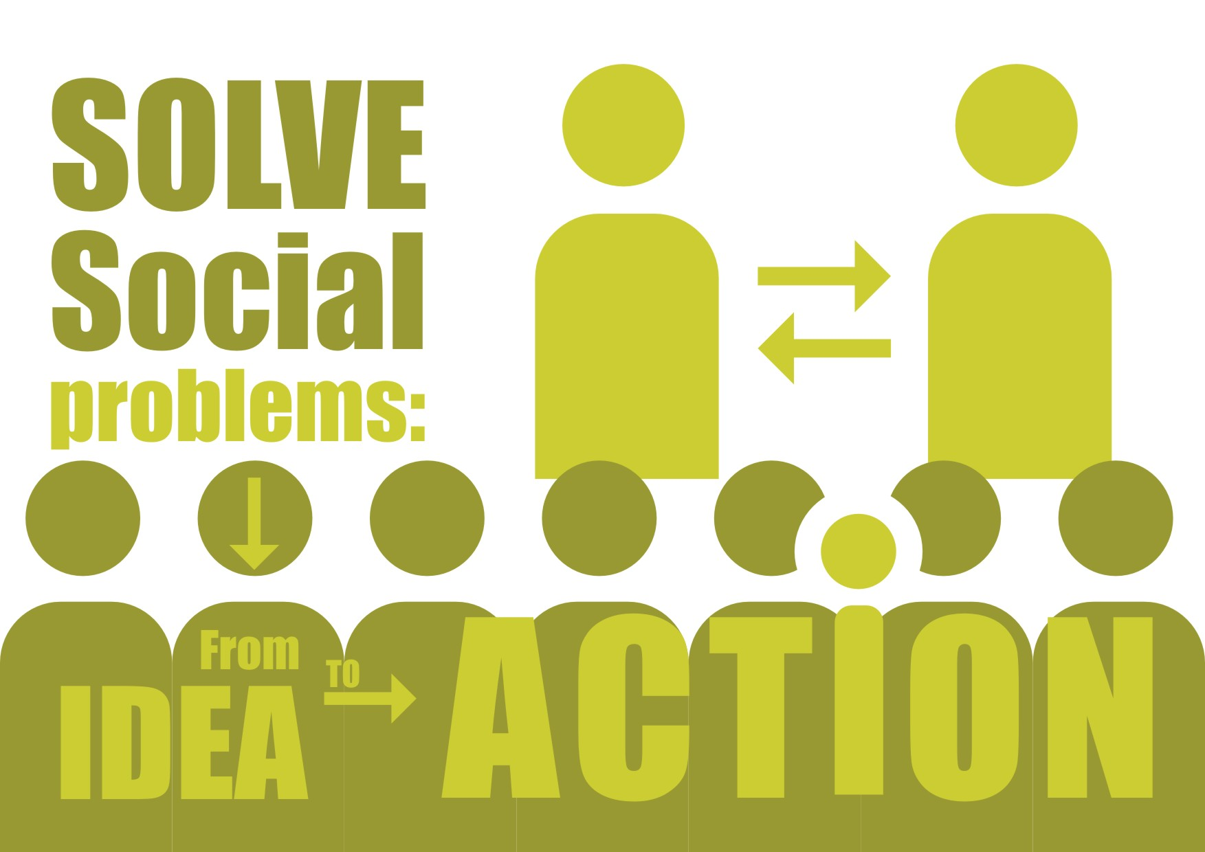 Solve social problems: From idea to action